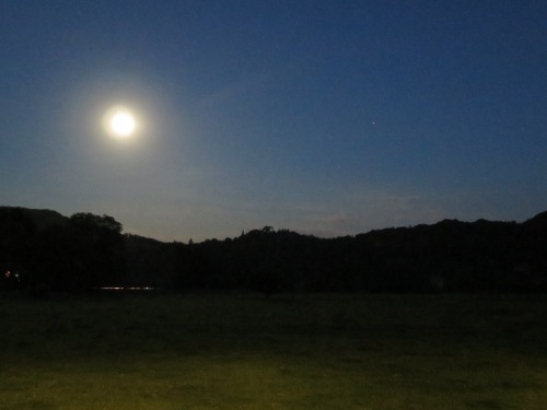 The full moon lights the vale at midnight on the 30th.