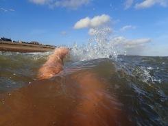 In the sea at Aldeburgh