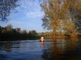 In Emily's river.